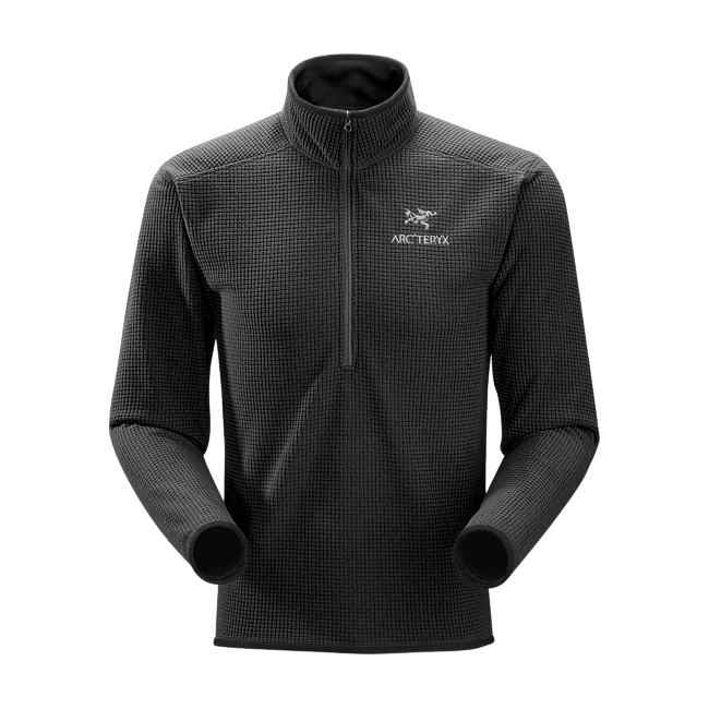 Cheap Arc'teryx DELTA AR ZIP NECK MEN'S Black Sale